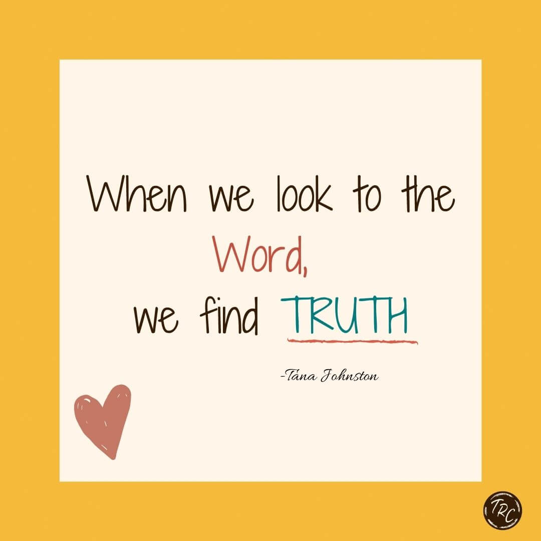 When we look to the Word we find TRUTH tile